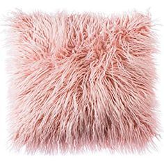 OJIA Deluxe Home Decorative Super Soft Plush Mongolian Faux Fur Throw Pillow Cover Cushion Case x 18 Inch,Blush Pink) Pink Throws, Pink Throw Pillows, Cute Pillows, Throw Pillow Covers, Decorative Throw Pillows, Pillows On Bed, Pink Fur Pillow, Blush Pink Cushions, Blush Pillows