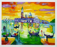 """San Giorgo a Venise"" by Jean Claude Picot.  Purchased on Princess.  Gorgeous reminder of Venice."