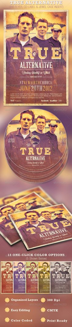 True Alternative Flyer and CD Template- Price: $7.00