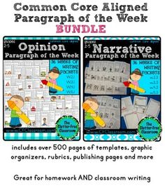 Paragraph of the Week   Paragraph Writing   Distance Learning Digital Printable