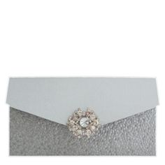 Silver folded Silver Wedding  Invitation with Pebble Paper  # Silver Wedding ... Wedding ideas for brides, grooms, parents & planners ... https://itunes.apple.com/us/app/the-gold-wedding-planner/id498112599?ls=1=8 … plus how to organise an entire wedding ♥ The Gold Wedding Planner iPhone App ♥