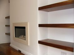 Built in Shelves - either side of the TV/Fireplace - this is what I was talking about the other night.