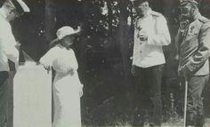 "Tsar Nicholas ll of Russia with the Grand Duchess Anastasia Nikolaevna Romanova of Russia and others. ""AL"""