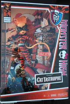 MONSTER HIGH TORALEI POWER GHOULS CAT TASTROPHE