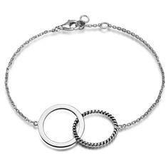 Simple - srebrna bransoletka (OBPY035 - 55710) - YES