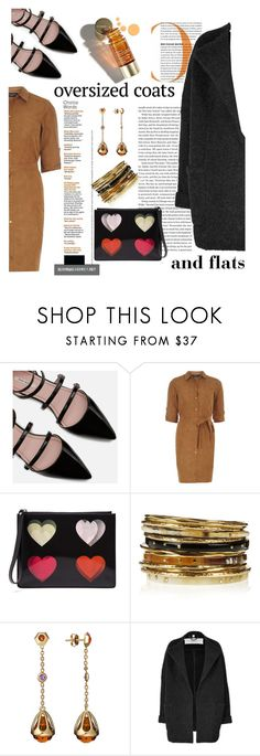 """oversize coats"" by emcf3548 ❤ liked on Polyvore featuring Zara, Dorothy Perkins, Christopher Kane, Clarins, Ashley Pittman, Baccarat, Burberry and oversizecoats"