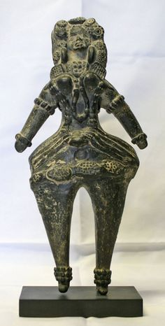 3rd Century BC Indian Mauryan Dynasty Mother Goddess Terracotta Figure. For a very similar figure, see the Lowe Art Museum exhibition catalogue, Change and Continuity, Folk and Tribal Art of India, page 128. 12 inches, 30.5 cm.