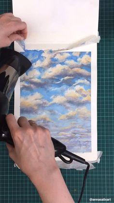 Detailed Paintings, Small Paintings, Nature Paintings, Landscape Paintings, Watercolor Tips, Watercolor Techniques, Watercolor Landscape, Painting Techniques, Moleskine Sketchbook