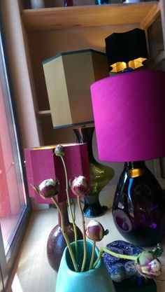 some lamps in my shop window.