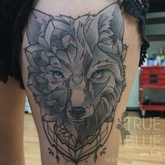 Cry Wolf by John Scully Professional Tattoo, Scully, Tattoo Studio, Crying, Wolf, Tattoos, Blue, Animals, Tatuajes