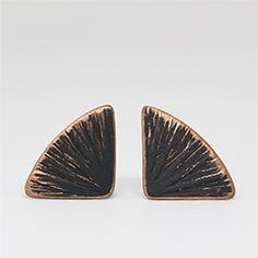 fan earrings in matt