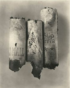 Irving Penn 'Cigarette No. New York 1982 Irving Penn, Still Life Photography, Film Photography, Gouache, Classic Photographers, Still Life Photos, Photographs Of People, Portraits, Everyday Objects