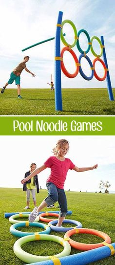Pool Noodlympics | DIY Outdoor Family Games | outdoor games for youth