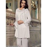 Artış 613 Hamile Sabahlık Pijama Takım; Sabahlık ve pijamadan oluşan takım artış iç giyim tarafından üretilmektedir. Beğendiğiniz lohusa takımlarını i
