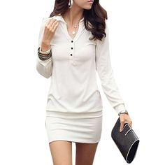 http://thecuteclothesforwomen.com/allegra-k-women-point-collar-button-up-long-sleeve-mini-dress-white-s-review/  Allegra K Women Point Collar Button up Long Sleeve Mini Dress White S