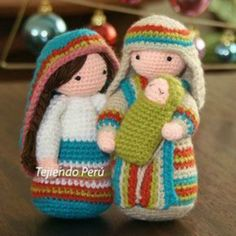 Paso a paso: San José tejido a crochet (amigurumi Joseph tutorial) - Spanish pattern with video Crochet Amigurumi Free Patterns, Crochet Dolls, Amigurumi Tutorial, Love Crochet, Crochet Baby, Crochet Crafts, Crochet Projects, Diy Crochet, Crochet Ideas