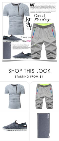 """Newchic"" by kiveric-damira ❤ liked on Polyvore featuring men's fashion and menswear"