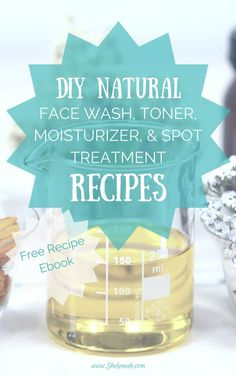 Recipes for DIY Natural face wash toner moisturizer and spot treatment using essential oils. Great for acne. - March 10 2019 at Spot Treatment, Acne Treatment, Skin Treatments, Natural Face Wash, Natural Skin Care, Natural Beauty, Organic Beauty, Acne Remedies, Natural Remedies