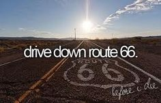 Blasting Country Music and driving down route 66 something I really want to do!