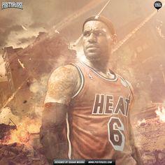 LeBron James Beastmode Wallpaper | Posterizes.com - NBA Wallpaper Artwork
