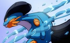 Swampert All Pokemon, Pokemon Fan, Pokemon Stuff, Pokemon Champions, Mudkip, Water Type, Pokemon Special, Pokemon Pictures, Mythical Creatures