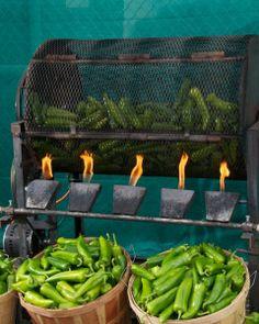 chili roasting in New Mexico | New Mexico Chile (& Chili) - Albuquerque Original Farmers Market