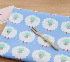 Laminated Cute Sheep Pattern Cotton Fabric by by luckyshop0228