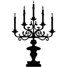 Candelabra Black Wall Decal ($20) ❤ liked on Polyvore featuring home, home decor, wall art, art, decor, backgrounds, black, filler, graphic wall art and wall decal stickers