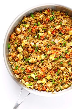 """This 15-Minute Quinoa Fried """"Rice"""" recipe is ultra-easy to make, full of great flavor, and SO incredibly delicious!"""