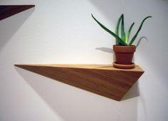 Prism wooden shelf