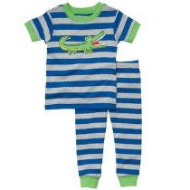 Carter's Boys Blue Striped Aligator 2 Piece Pajama Set 2t-5t Cotton Pjs, Cotton Sleepwear, Pajama Set, Pajama Pants, Boys Sleepwear, Boy Blue, Big Boys, Toddler Boys, Blue Stripes