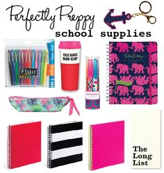 Perfectly Preppy School Supplies