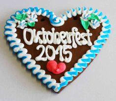 Lebkuchenherzen  Oktoberfest 2015 , 21 cm