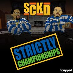 """""""SCKD"""" cover art  inspired by EPMD's classic album """"Strictly Business"""" featuring the Warriors Kevin Durant and Stephen Curry. Vector artwork by Tony.psd"""