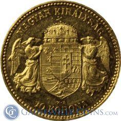 Hungary 10 Korona Gold Coin .098 oz of Gold