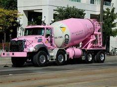 pink cement mixer