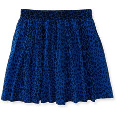 Aeropostale Kids' Leopard Skirt ($16) ❤ liked on Polyvore featuring intimates, brisk blue and aéropostale