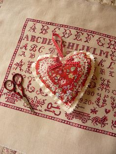 cute heart, love the sampler
