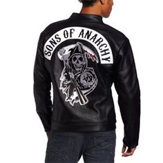 The sons of anarchy leather speedster jacket is the ultimate pinacle of soa gear, each jacket is hand cut and sewn, the high quality leather along with sons of anarchy patches make this jacket a true gem in the officially licensed sons of anarchy collection, jacket is made with satin lining and zipper sleeve closures. $398.00
