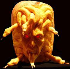 Bizarre Halloween Jack O'Lantern pumpkins carved by Ray Villafane - Telegraph