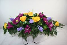 Cemetery Saddle Featuring  Yellow Roses and by Crazyboutdeco, $32.99