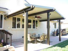 Solid aluminum patio cover