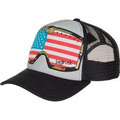 519b4f3626e89 Bigtruck Brand - Original Goggle Trucker Hat - Grey Black American Flag  Black American Flag
