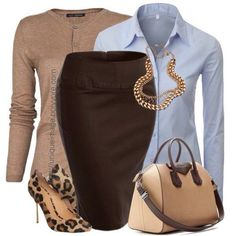 Love the pencil with denim tan and leopard