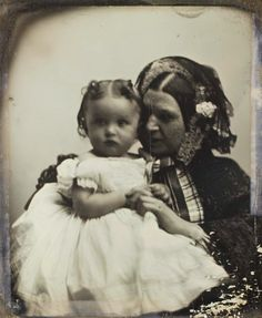 Unidentified Mother & Child, ca. 1850