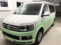 Neuer Look für die Camper Saison 2017 ! Jetzt VW T6 California mieten bei www.schnauzbus.ch