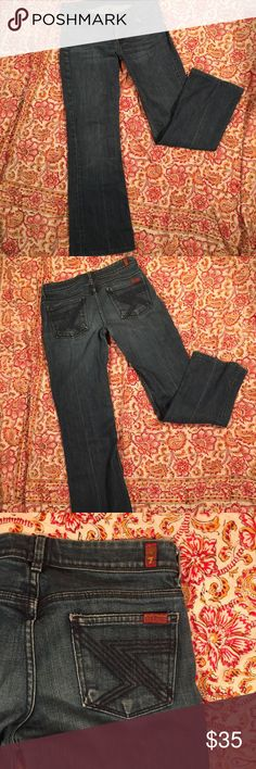 Seven for all Mankind Flare Jeans 26 Great 7 for all Mankind flare jeans. Medium dark wash. Great condition, no flaws noted. Size 26 7 For All Mankind Jeans Flare & Wide Leg