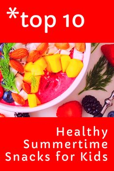 Summertime is healthy snack season! Check out our Top 10 Healthy Summertime Snacks for Kids! Top 10 Healthy Foods, Healthy Recipes For Weight Loss, Healthy Fruits, Good Healthy Recipes, Healthy Snacks, Healthy Eating, Summer Snacks, Man Food, Nutrition