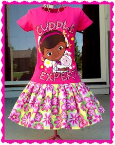 Girls Doc McStuffins made out of shirt by BlossomBlueBoutique, $28.00