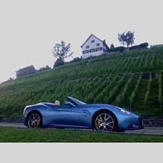 Driving along the lake this afternoon... #Ferrari